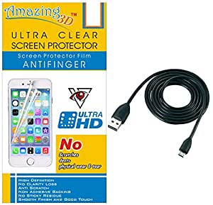 Generic Ultra Clear Screen Protector For Lava X8 And Free USB Data Cable