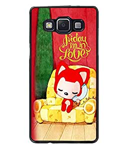 PrintDhaba Love D-5999 Back Case Cover for SAMSUNG GALAXY A5 (Multi-Coloured)