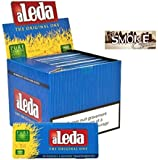Aleda Blue Extra Slim Clear Rolling Paper + the Smoke Center Sticker - Full Box