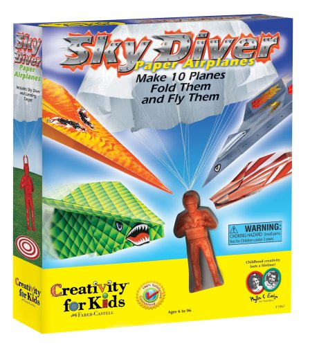Creativity For Kids Sky Diver Paper Airplanes front-537643