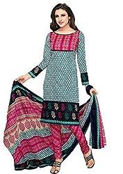 Komal arts Ethnicwear Women's Dress Material(Komal arts_SHREE4676_Turquoise_Free Size)