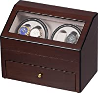 Auer Accessories Plutus 622OA Watch Winder for 4 Watches Oak