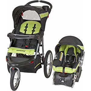 Baby Trend Expedition Jogger Travel System, Electric Lime - Baby Strollers - Infant Car Seat - Stroller Travel Systems - Made From Lightweight Steel Frame - Multi-position, Reclining, Padded Seat - 5-point Harness on Car Seat