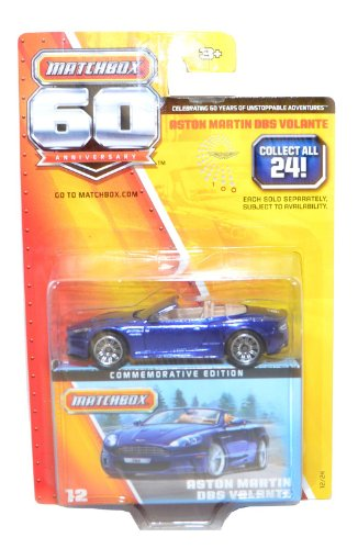 Matchbox 60th Anniversary Aston Martin DBS Volante Scale 1:64 Blue #12/24 - 1