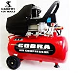 POWER HOUSE COBRA AIR TOOLS 25L LITER AIR COMPRESSOR 3.8CFM 2.5HP WITH FREE 5 PCS KIT(PAINT SPRAY GUN, PARAFFIN GUN, TYRE INFLATER, BLOW GUN AND HOSE) 8 BAR POWERFUL, 2 X FREE 1/4