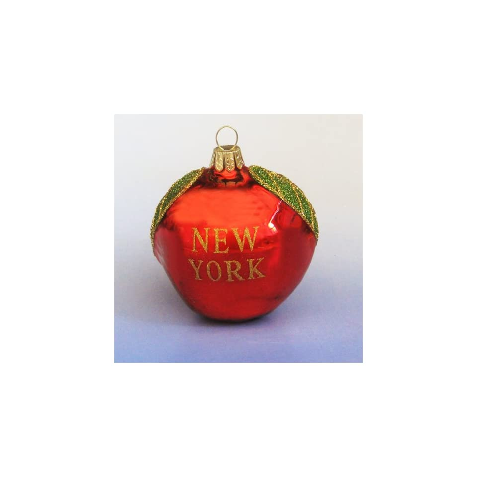 Pack of 6 Noble Gems New York Big Apple Christmas Ornaments
