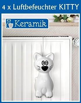 4er set wenko luftbefeuchter kitty keramik verdunster. Black Bedroom Furniture Sets. Home Design Ideas