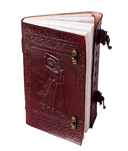 QualityArt Handmade Leather Journal Leather Notebook Rose Diary Sketchbook Blank