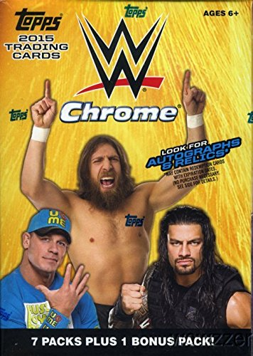 2015 Topps CHROME WWE Wrestling EXCLUSIVE Factory Sealed Retail Box with 8 Packs and Special HULK HOGAN Tribute Card! Look for Autograph,Relic and Kiss Cards of WWE Superstars including Jon Cena, Triple H, Hulk Hogan, Nikki Bella, Ric Flair, Charlotte  a 2015 bowman baseball cards hobby box 24 packs box 10 cards pack 1 rookie autograph per box april 29th release