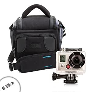 USA Gear Durable Action Video Camera Bag with Carrying Strap - Works With GoPro HD Hero4 , Hero3+ , Hero3 , Hero2 Professional , Hero Original Surf , Helmet , 960 , Naked , Motorsports and More GoPro Cameras and Accessories