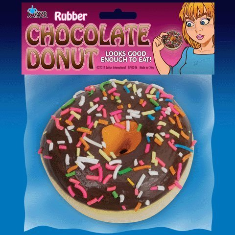 Rubber Chocolate Donut Prank-gag New