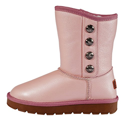 Guciheaven Winter New Style Button To Keep Warm Snow Boot(6 B(M)Us, Pink)