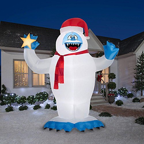 Huge Inflatable Bumble with Santa Hat