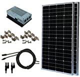 200W 200 Watt, 12 Volt, 24 Volt Solar Panel + MPPT Charge Controller Complete Kit for RV's, Boats and Off-Grid Battery Charging