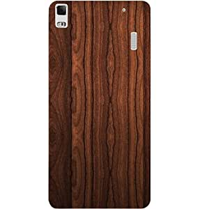 Casotec Wooden Texture Design Hard Back Case Cover for Lenovo K3 Note