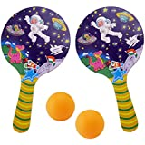 Taringo24h Space Print Designer Table Tennis Racket With 2 Balls