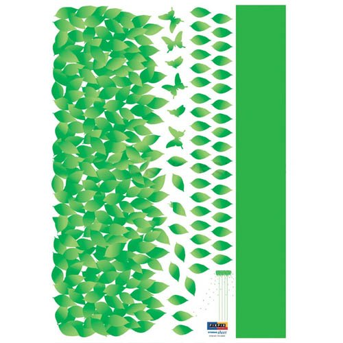 Easy Instant Decoration Wall Sticker Decal - Hanging Vine Blowing Leaves