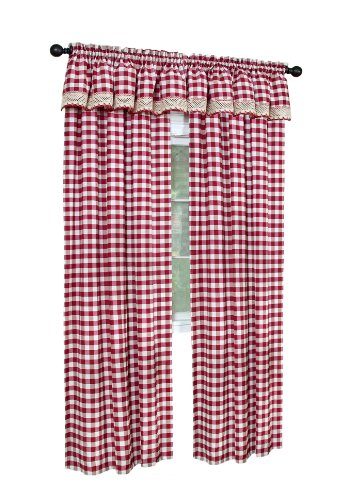 with red and white gingham curtains red kitchen accessories