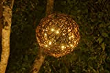 """Natural Willow Branch LED Pendant Lamp By Willowbrite (12"""") Christmas Decor, Ambient Mood Lighting Night Globe, Romantic Lantern For Wedding, Holiday, Patio, Outdoor (Warm White), rattan, grape"""