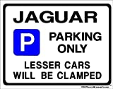 JAGUAR Car Parking Sign Gift for s e type x xj xk v8 v6 3.0 models - Extra Large Size 205 x 270mm (Made in UK) (All fixing included)