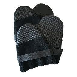 Muttluks Hott Doggers Lightweight Fleece 2.75-Inch to 3.25-Inch Dog Boots, Small, Black, Set of 4