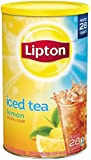 Lipton Iced Tea Sugar Sweetened Iced Tea Mix, Natural Lemon Flavor, 70.5 Ounce Containers (Pack of 2)