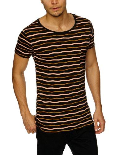 Nunc N13-1054 Kody Patterned Men's T-Shirt Black Large