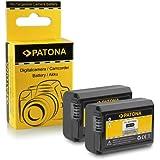 2x Batterie NP-FW50 pour Sony NEX-3 | NEX-3A | NEX-3D | NEX-3K | NEX-5 | NEX-5A | NEX-5D | NEX-5H | NEX-5K | NEX-6 | NEX-7 | Sony Alpha: 33 (SLT-A33) | 37 (SLT-A37) | 55 (SLT-A55)