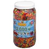 HAMA midi 211-51 Bügelperlen Dose 13000 Stk. NEON FARBEN gemischt hergestellt von Hama