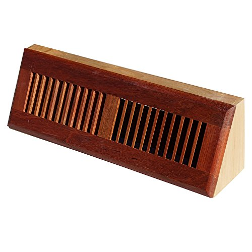 WELLAND 15 Inch Brazilian Cherry Hardwood Vent Baseboard Diffuser Wall Register Finished (Wood Heater Vents compare prices)