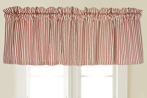 Rose Tree Ashford Window Valance, Red/White