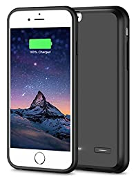 iPhone 6 Plus Battery Case[Ultra Thin]Cheeringary iPhone 6s Plus Battery Case[Black]Extra Battery Case iPhone 6/6s Plus Cover Charger Slim 3700mAh iPhone 6 Plus Juice Pack Extended Case Battery