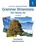 Grammar Dimensions 1: Form, Meaning, Use (1413027407) by Larsen-Freeman, Diane