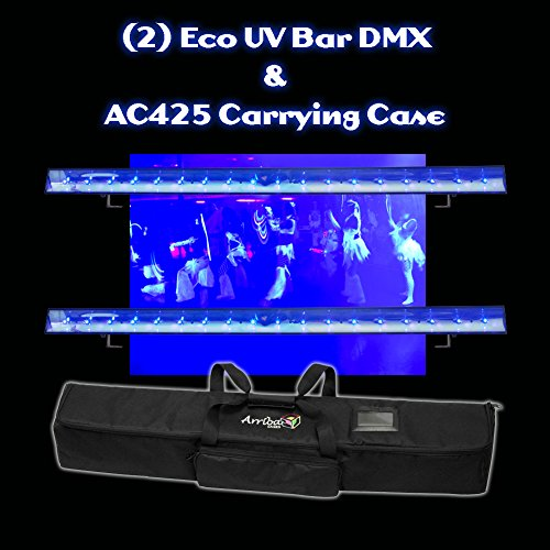 American Dj (2) Eco Uv Bar Dmx With Carrying Case