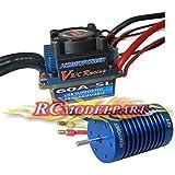 SkyQ 60A Programmable Sensorless Brushless ESC + 12T 3330KV Motor for 1/10 1/12 RC Car