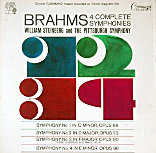 Brahms: 4 Complete Symphonies / William Steinberg and The Pittsburgh Symphony (Brahms The Four Symphonies Vinyl compare prices)