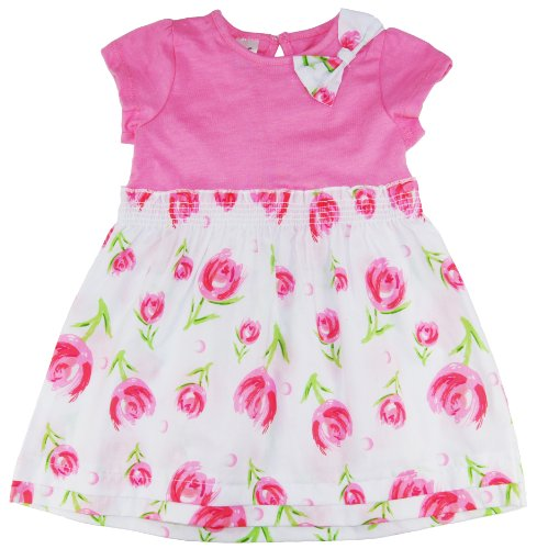B.F. Baby Girls Short Sleeve Bow Fashion Tulip Dress 24M Pink front-12425