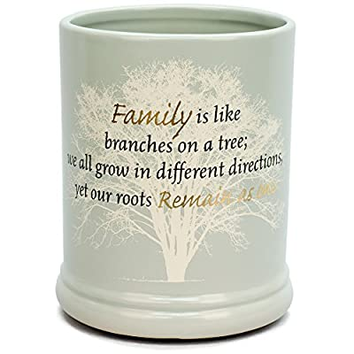 Family Tree Ceramic Stoneware Electric Large Jar Candle Warmer