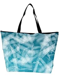 Snoogg Abstract Blue Glasses Designer Waterproof Bag Made Of High Strength Nylon