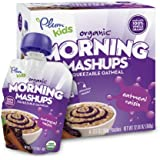 Plum Kids Organic Morning Mashups, Oatmeal Raisin, 3.17 ounce, 4-Count (Pack of 6)(Packaging May Vary)
