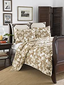 Tommy Bahama Plantation Floral Quilt Set, Full/Queen, Cocoa
