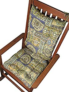 Amazon Rocking Chair Cushion Set Zerego Blue