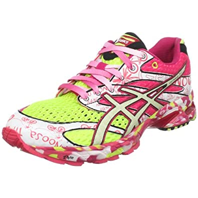 ASICS Women's GEL-Noosa Tri 6 Running Shoe,Neon Yellow/ Glow White/Hot Pink,10.5 M US