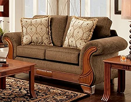 Chelsea Home Furniture Shannen Loveseat, Kindred Brown