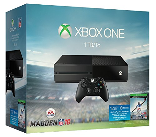 Xbox One 1TB Console – EA Sports Madden NFL 16 Bundle