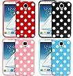 F�r Samsung Galaxy S4 Mini i9190 i9195 Polka Dot Silikon TPU Schutzh�lle Zubeh�r Set Etui Case Tasche Cover Bumper H�lle Schutz - Pink ,Rosa Schwarz ,Blau und Wei�