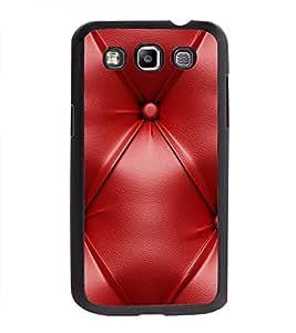 Printvisa Ultra Red Leather Pattern 2D Hard Polycarbonate Designer Back Case Cover for Samsun...