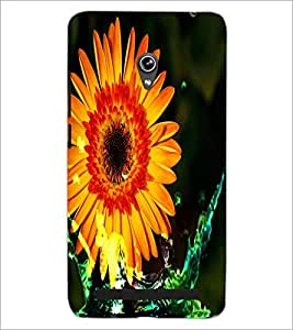 PrintDhaba Flower D-4375 Back Case Cover for ASUS ZENFONE 6 A601CG (Multi-Coloured)