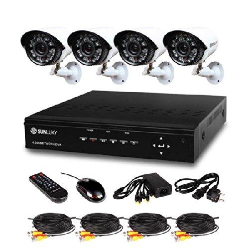 SUNLUXY 4 Kanal CCTV H.264 DVR 4 IR HD 700TVL Wasserdicht IR Nachtsicht Sicherheit Überwachungskamera videokamera Überwachungssystem Set