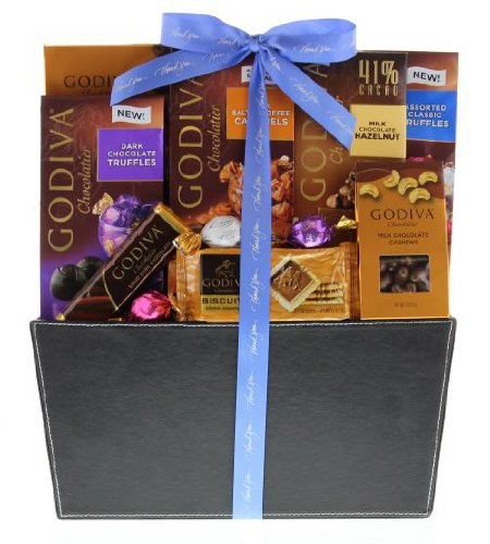 Wine.com Godiva Thank You Gift Basket